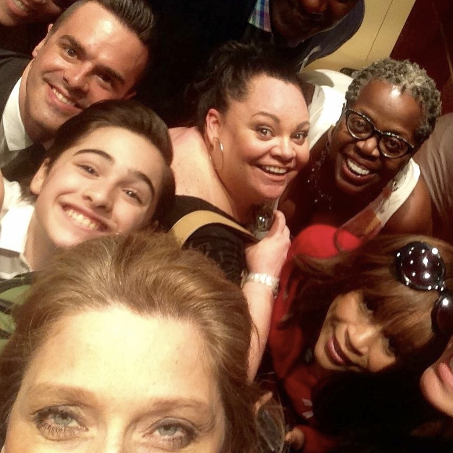 Michael J Moritz Jr with Rosie Perez, Lillias White, Keala Settle, Liz Larsen, and Joshua Colley