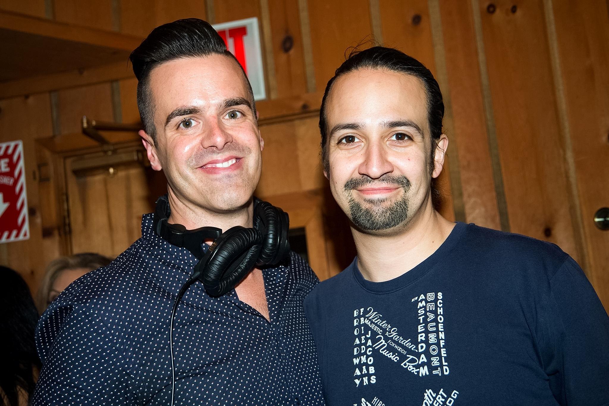 Michael J Moritz Jr and Lin-Manuel Miranda