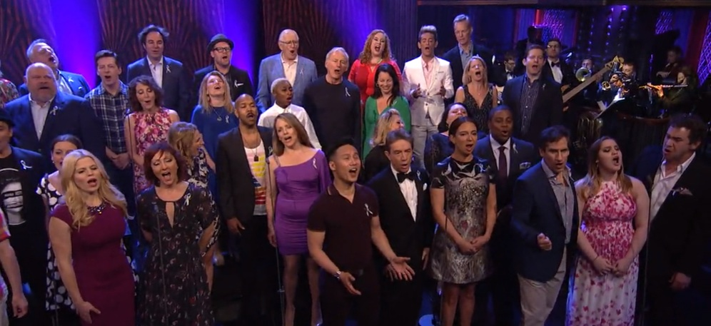 "Broadway for Orlando sing ""What the World Needs Now"" on NBC's ""Maya and Marty"""