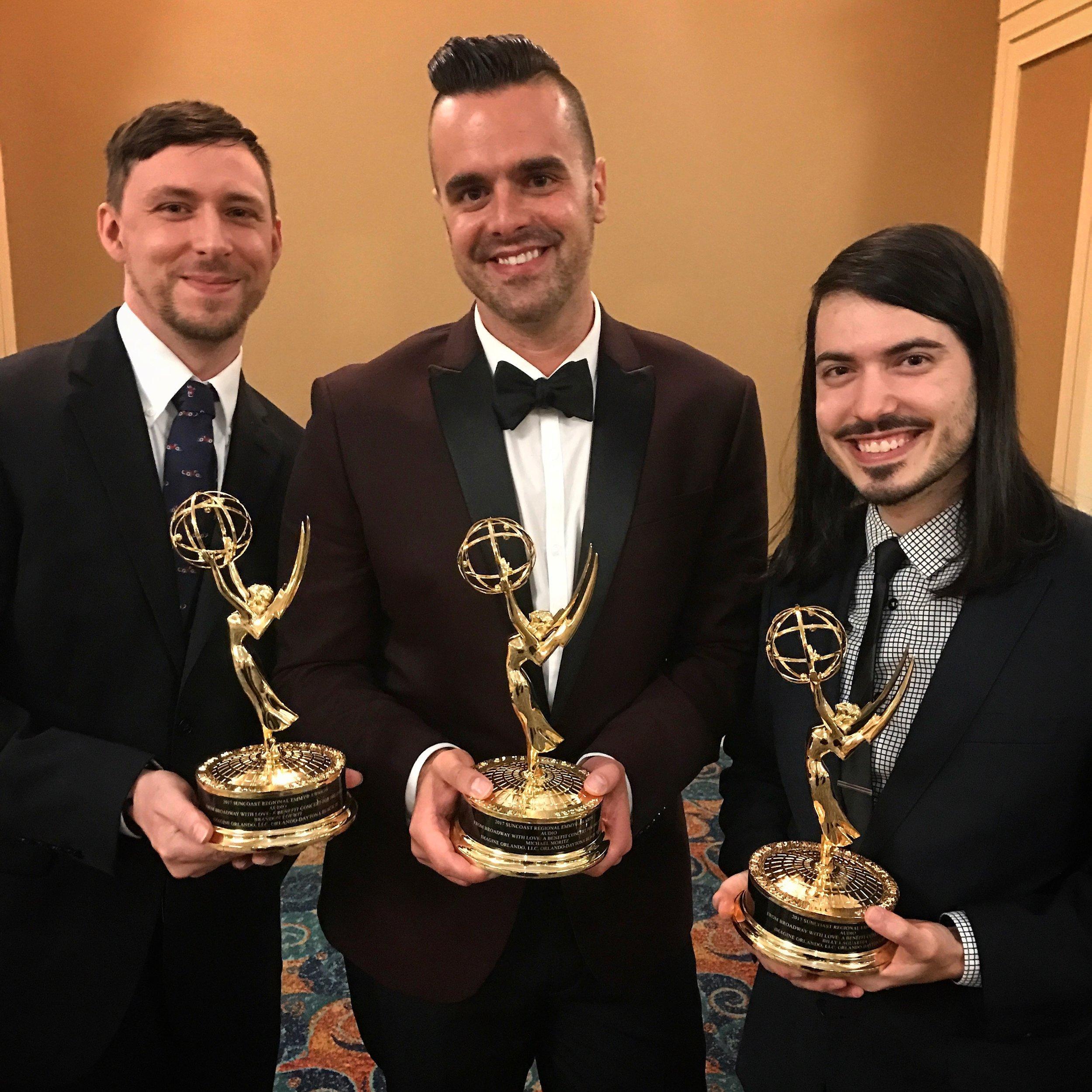 Pictured (L-R): Brandon Loewit, Michael J Moritz Jr, & Billy LaGuardia