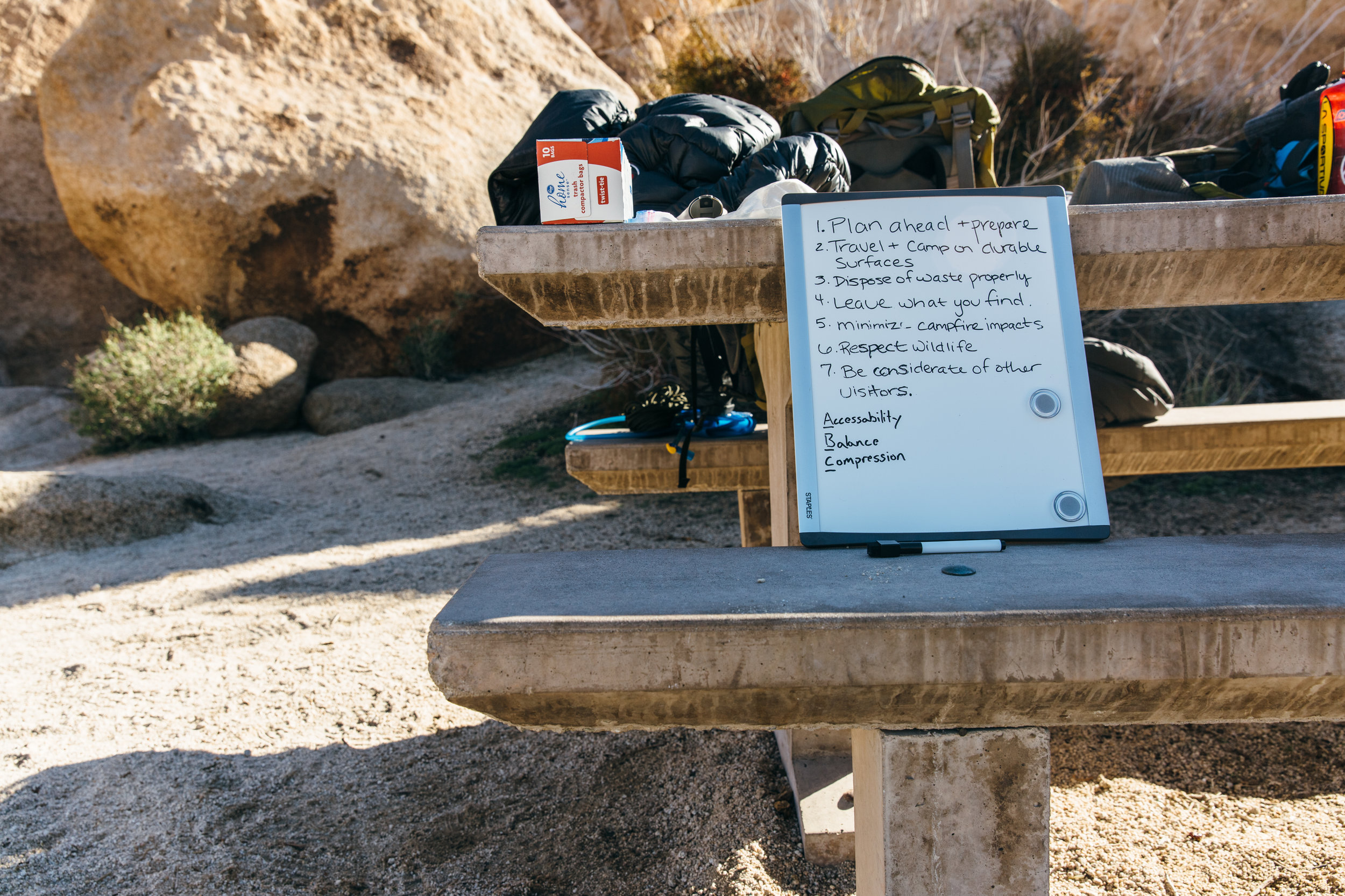 Getting some backpacking and leave no trace education
