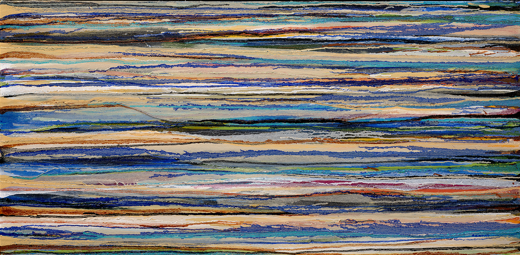"""Blue Daze"" oil on canvas, 24"" x 48"""