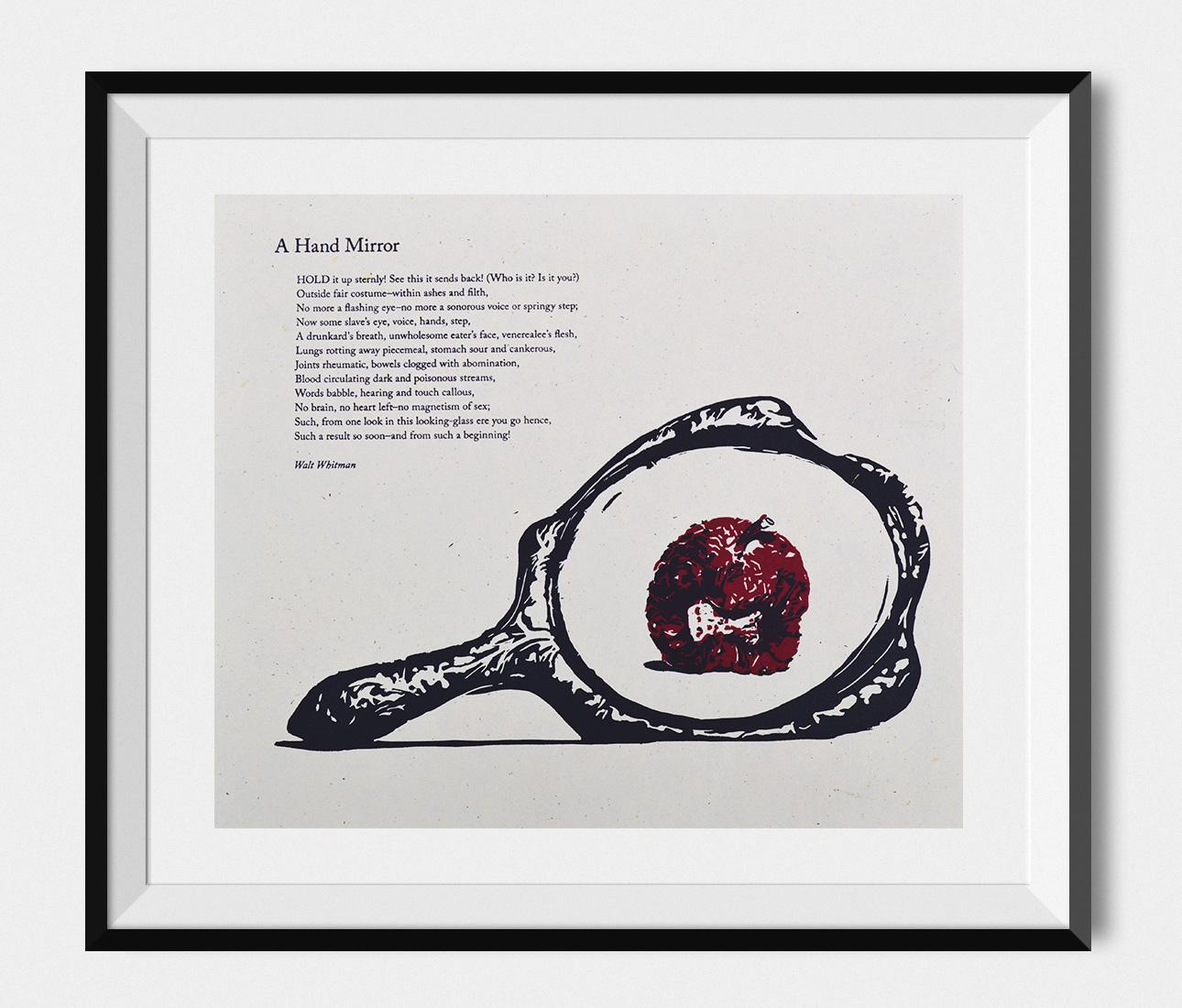 Letterpress — Hand-cut linoleum and handset Garamond foundrytype