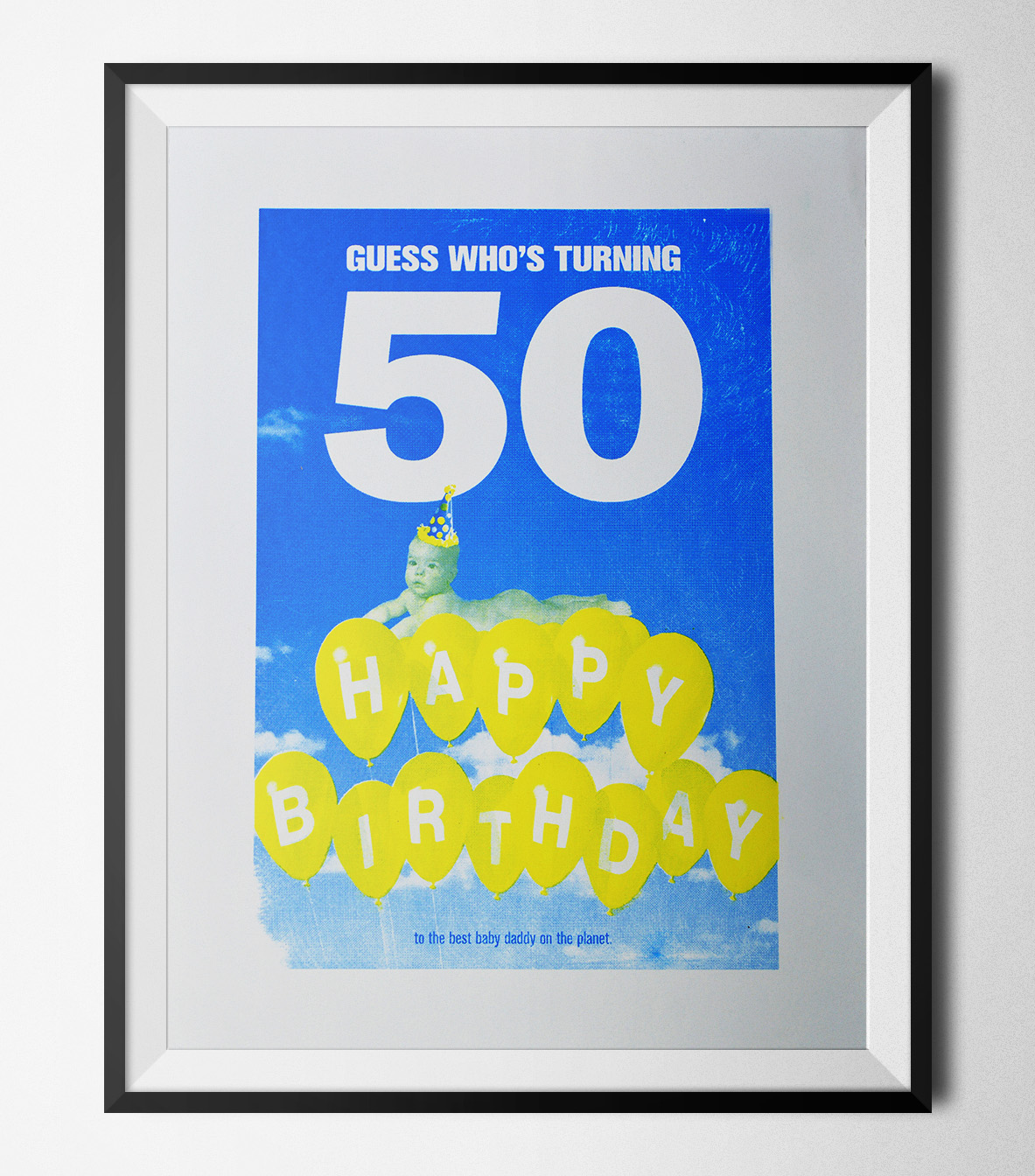 A lighthearted screen-print for my dad to remember his 50th birthday... since his memory isn't what it used to be