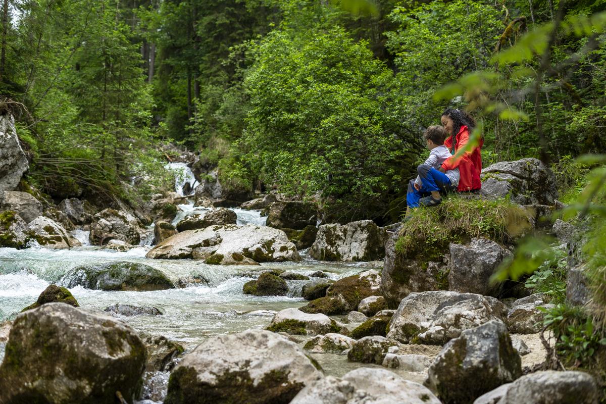 Der Wanderweg durch den Zauberwald bietet viele schöne Rastplätze...