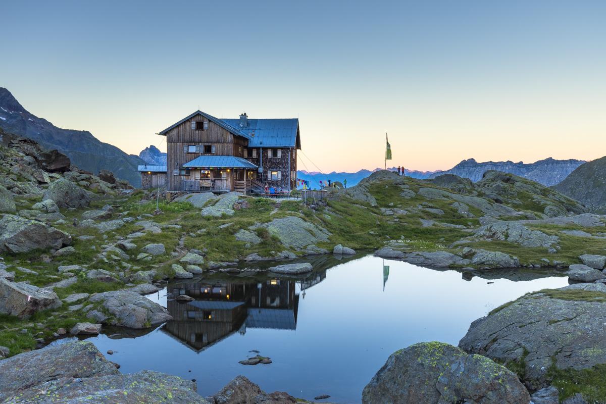 Eine meiner meistgesehenen Aufnahmen überhaupt: die Bremer Hütte im Stubai.
