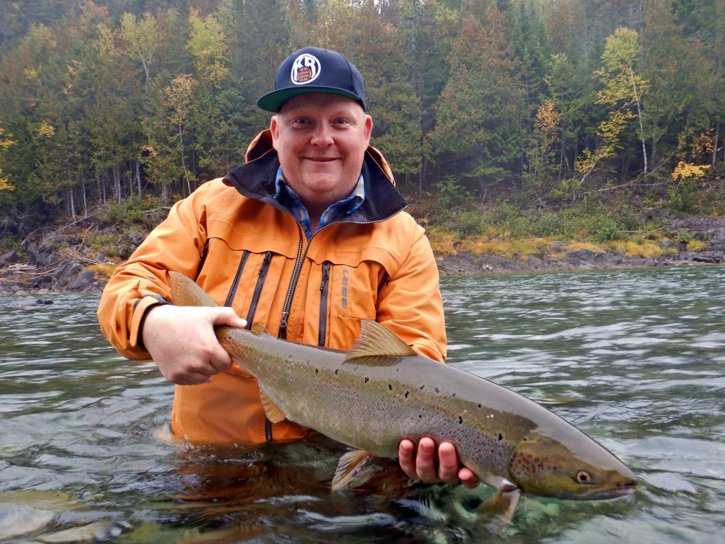 Axel Oskarsson a capturé ce superbe spécimen sur la rivière Bonaventure. Beau travail, cher ami!