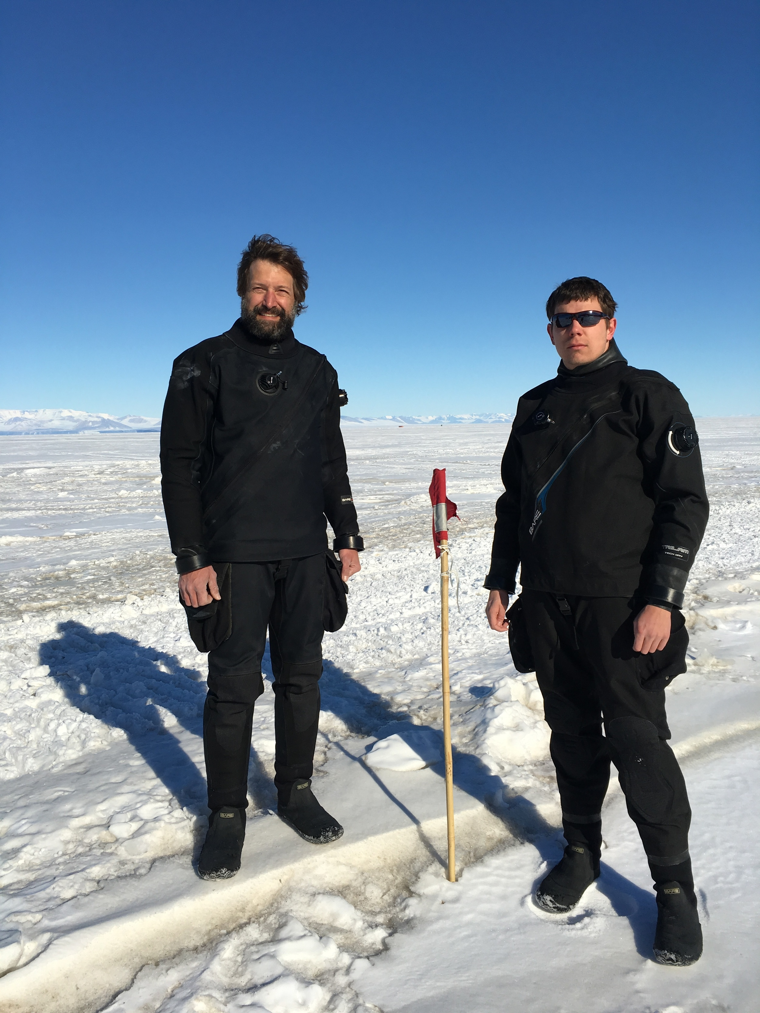 Bret and Steve:  Antarctic SCUBA heroes.