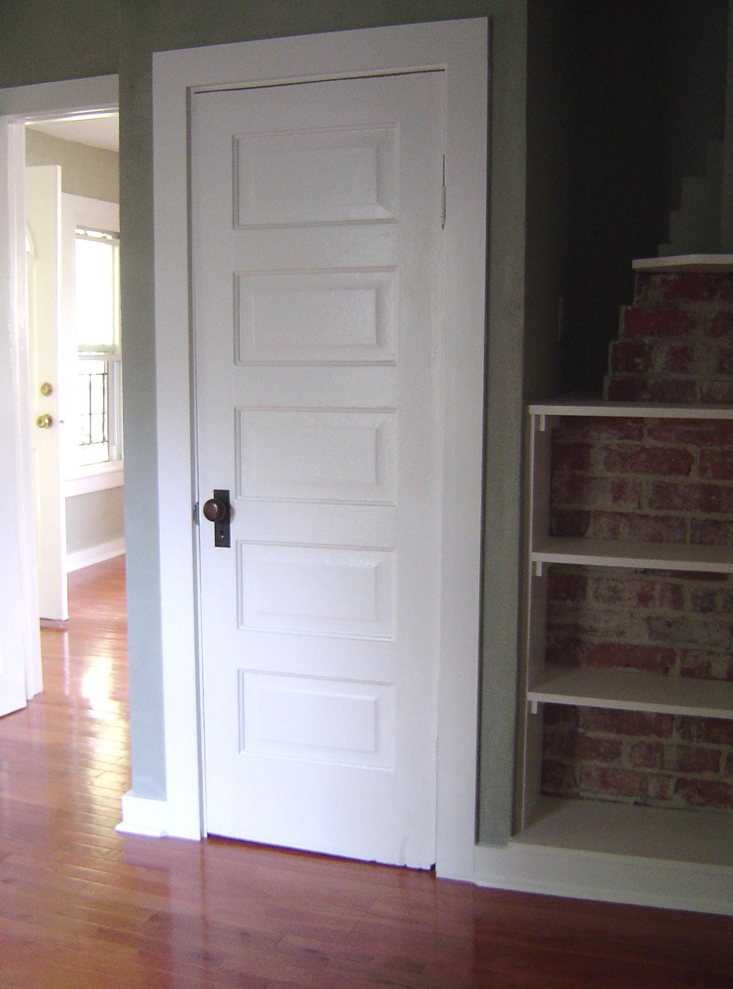 Salvaged door & hardware. Asheville, NC 2005