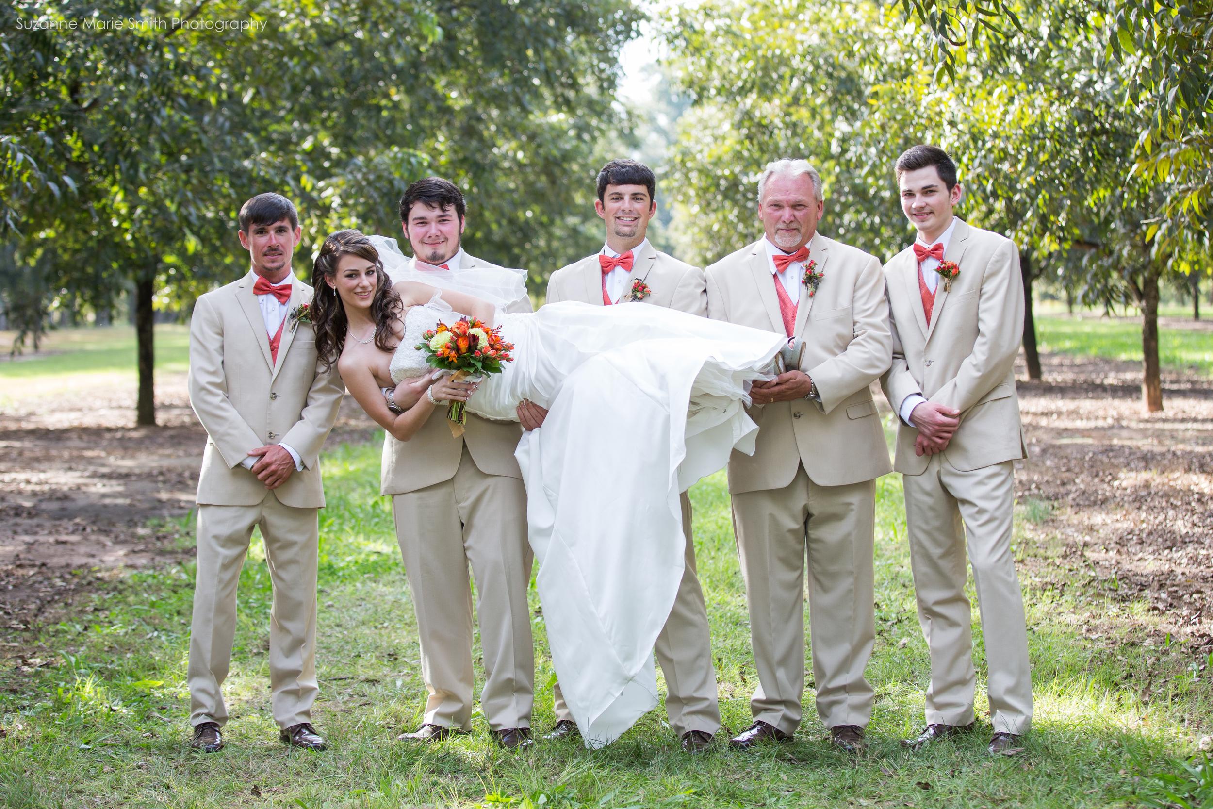 Rachel and the groomsmen