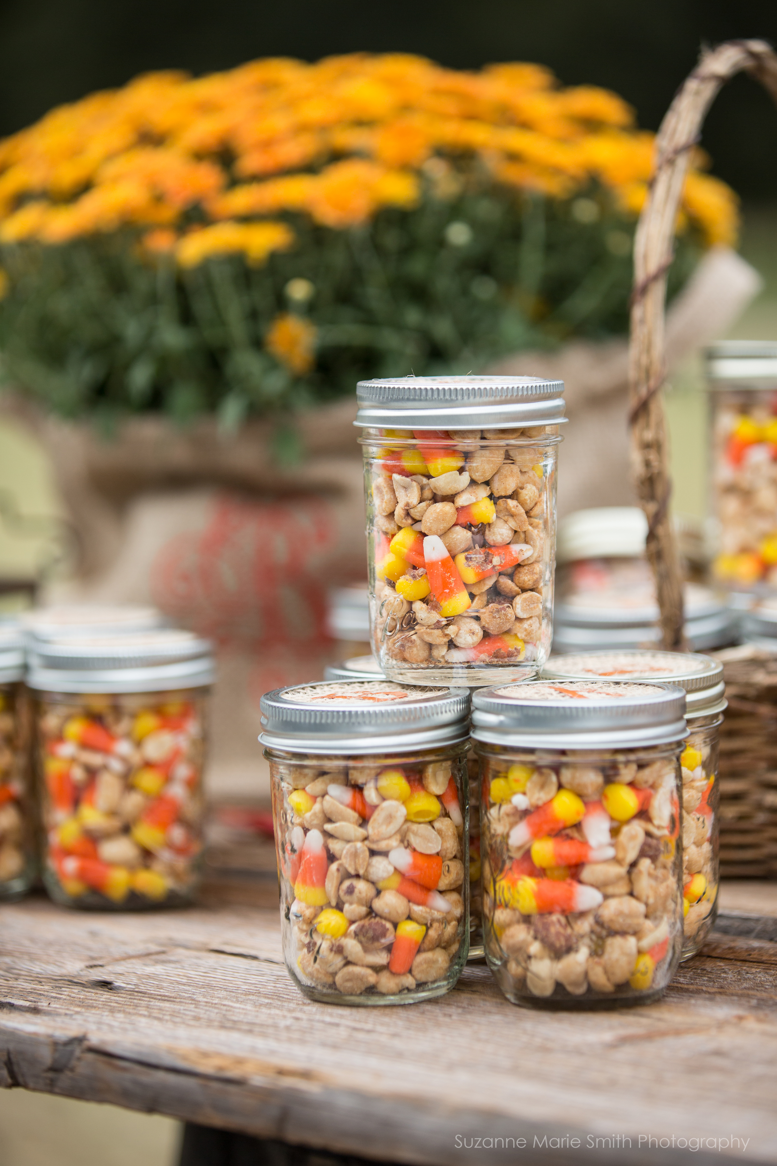 Candycorn and peanuts