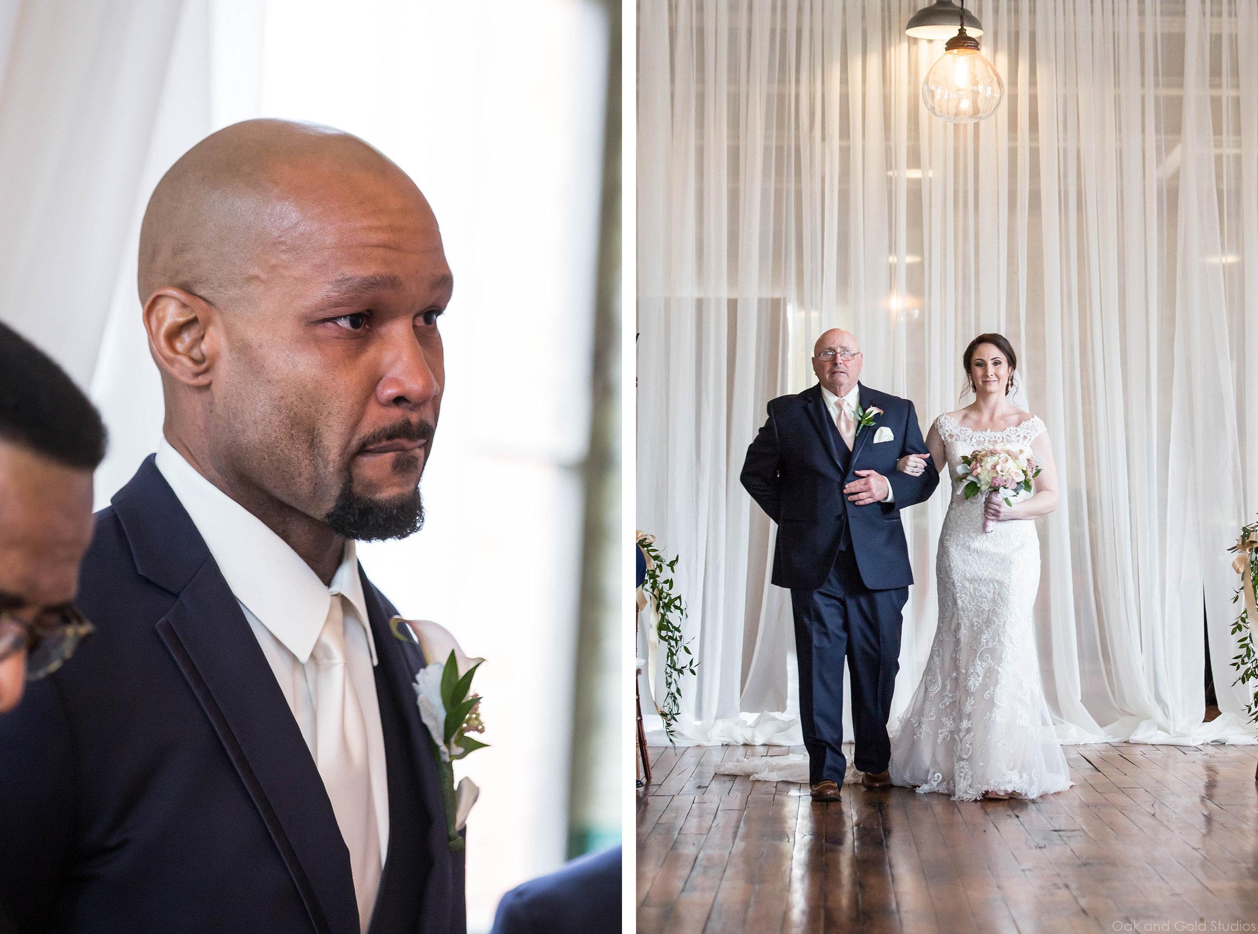 bride walking toward groom the engine room.jpg