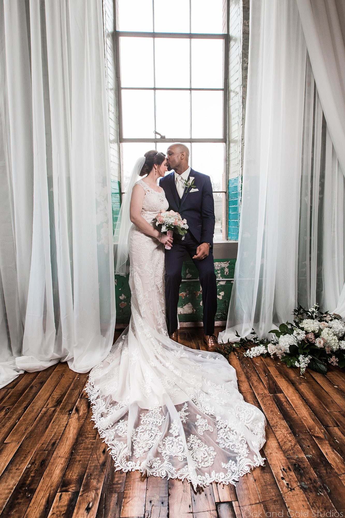 bride and groom inside the engine room.jpg