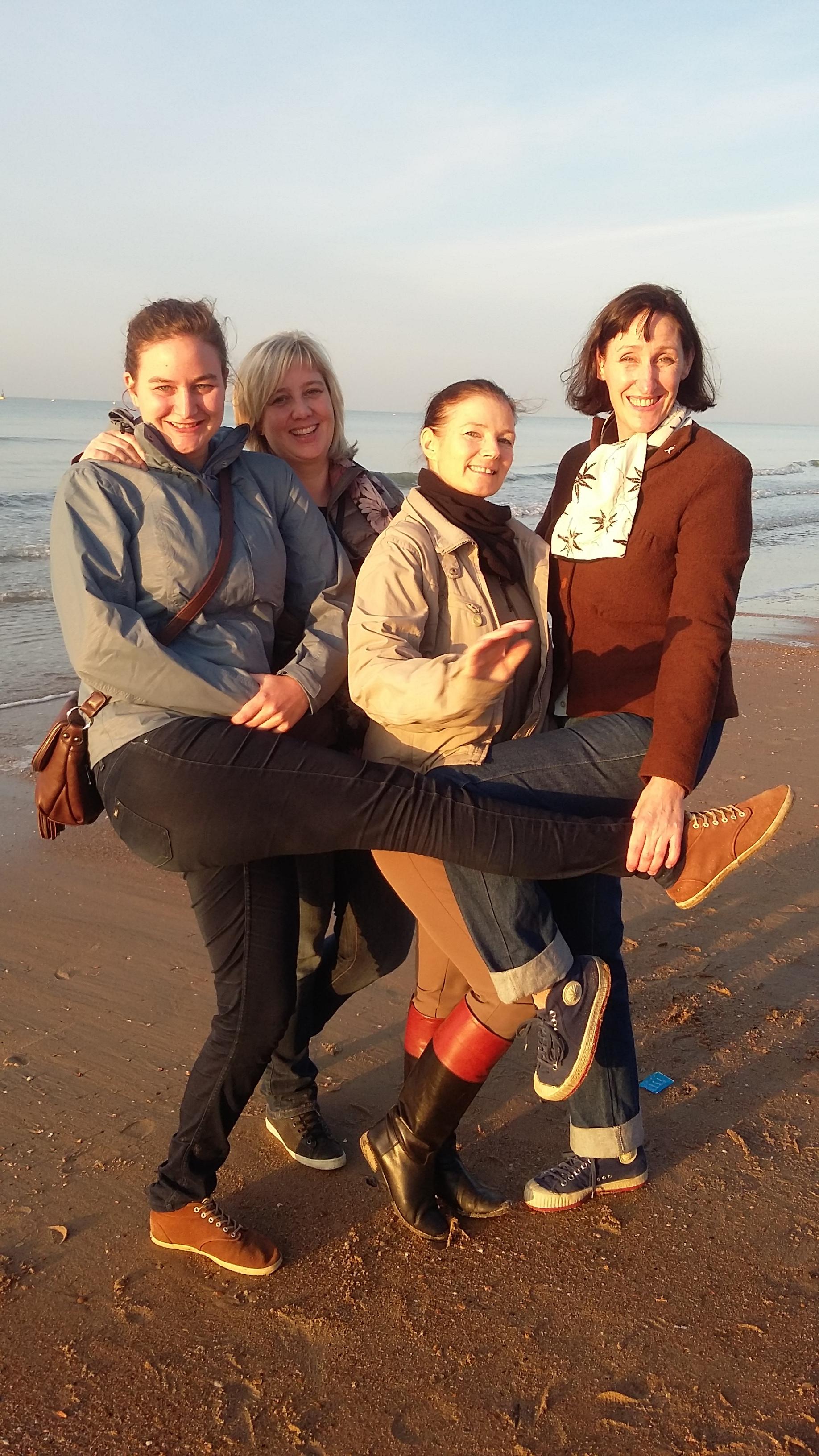 Trainster Anke, Ann, Alex en Babette