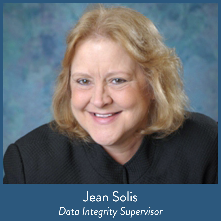 Jean Solis, Data Integrity