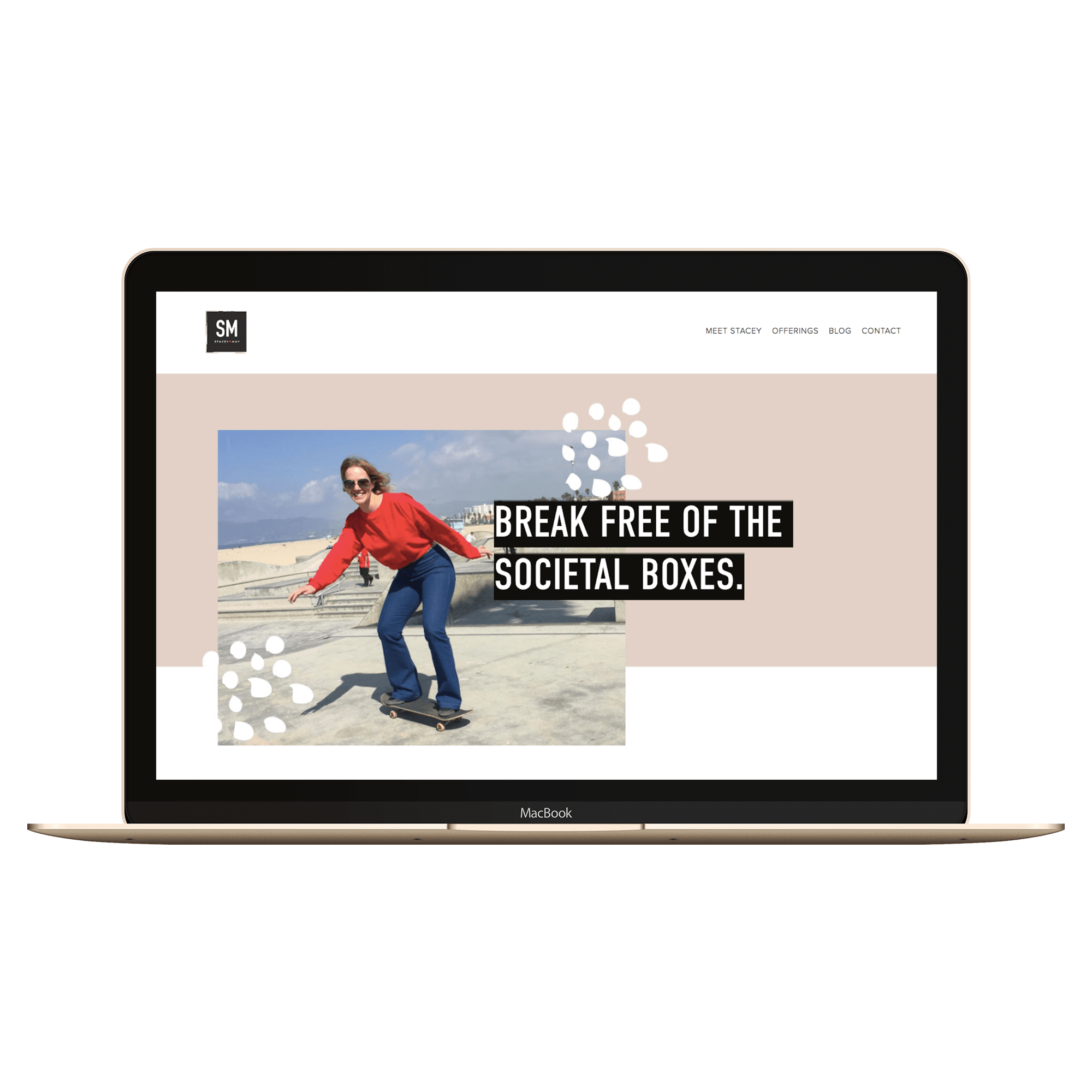 Stacey May Inspiration Custom Squarespace website with blog and lite css