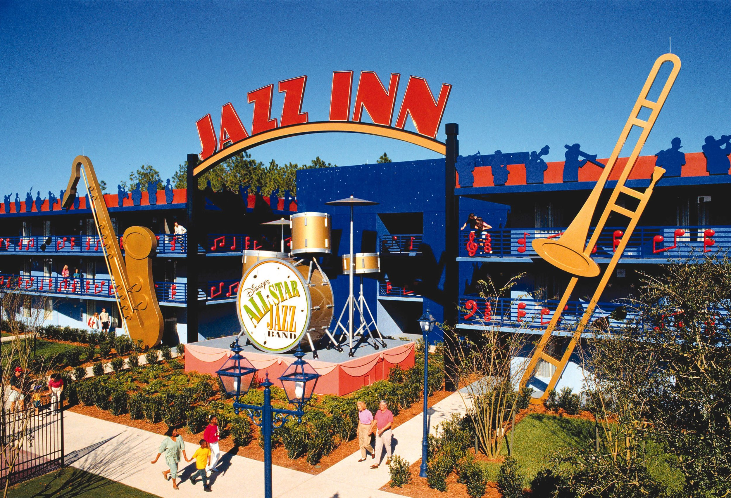 Students will enjoy comfortable & clean music themed ACCOMMODATIONS at disney's all star music resort!