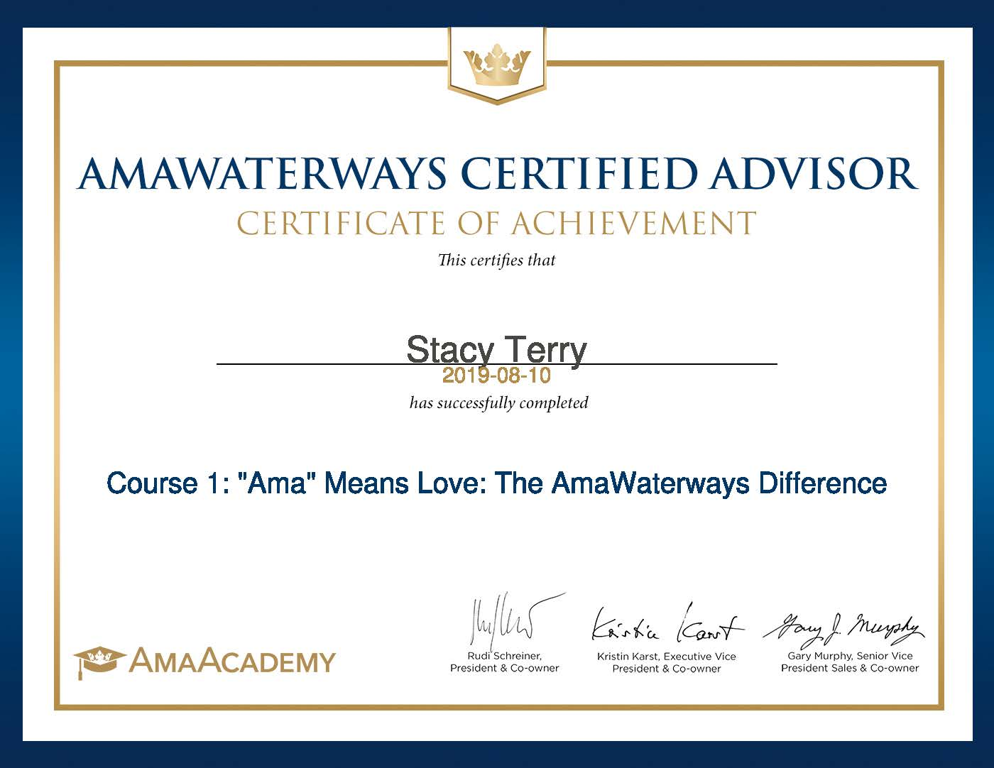 Stacy-Terry-Course 1_ _Ama_ Means Love_ The AmaWaterways Difference-Certificate.jpg