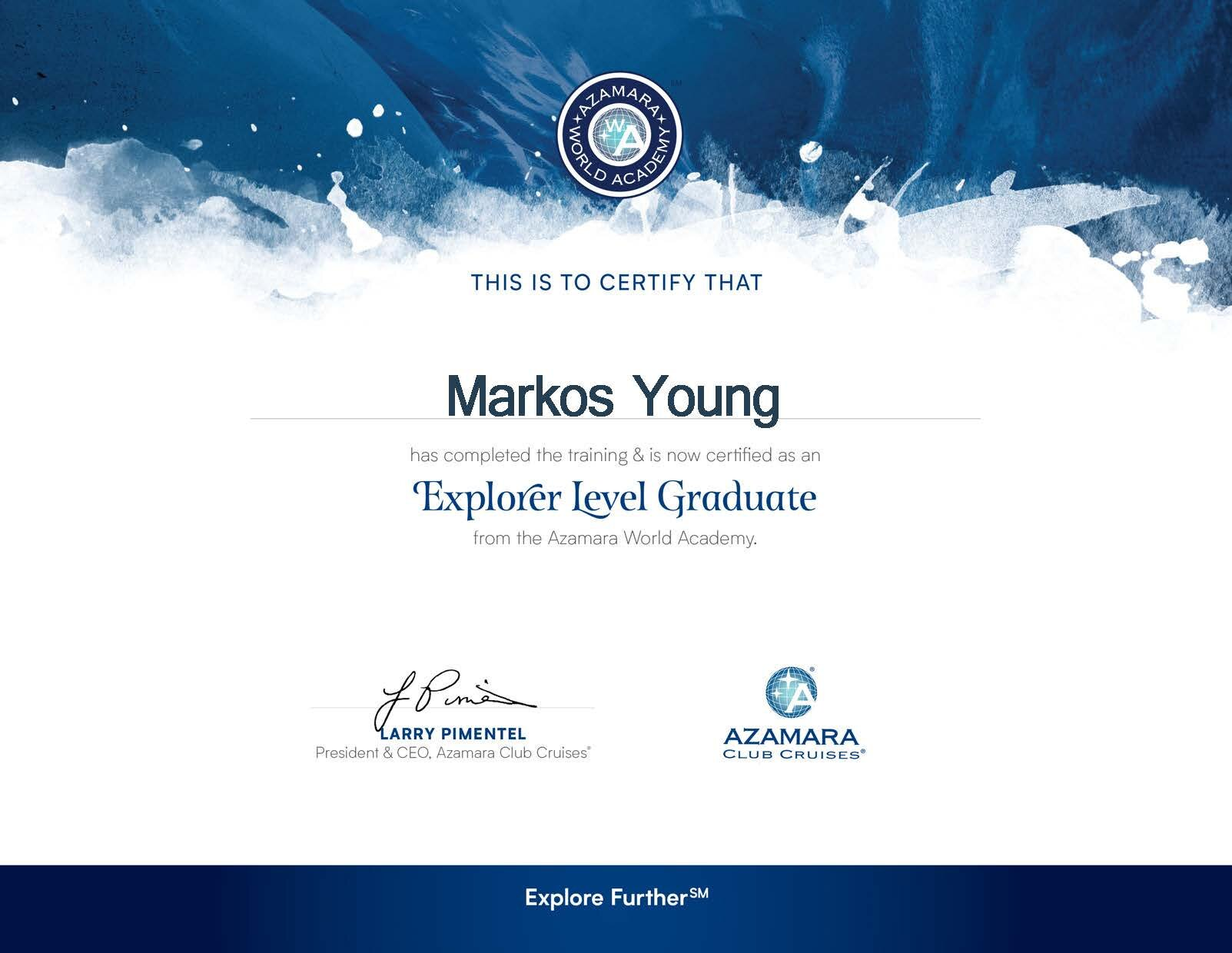 Markos Young-Azamara Certificate.jpg