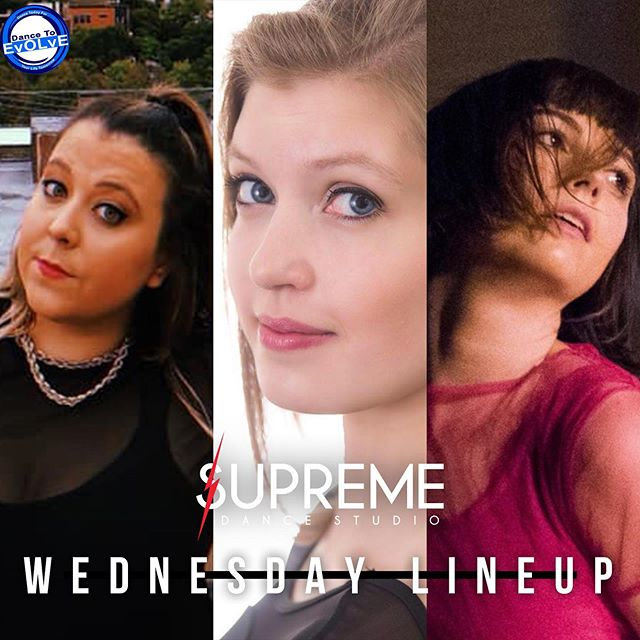 Supreme x Dance To Evolve Wednesday Line Up!!! #wearesupreme #supremedancestudio #dancetoevolvechicago #dance #ballet #contemporary #supreme #axis #firstweekofdance