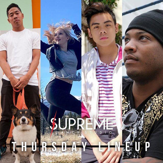 Supreme Thursday Line Up!!! #wearesupreme #supremedancestudio #supreme #dance #skokie #chicago #firstweekofdance