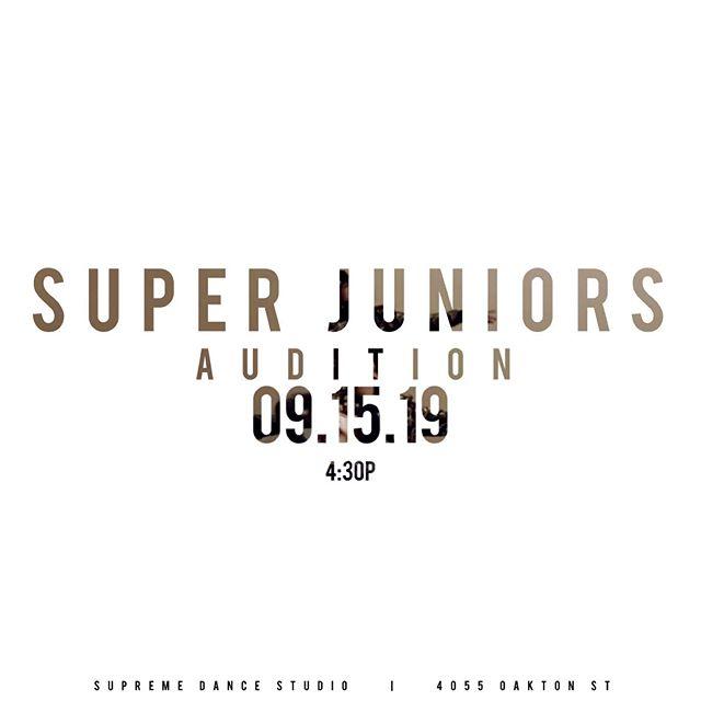 Come out this Sunday for @superjuniorsdancefamily auditions! #wearesupreme #supremedancestudio #supreme #hiphop #hiphopdance #chicago #dance