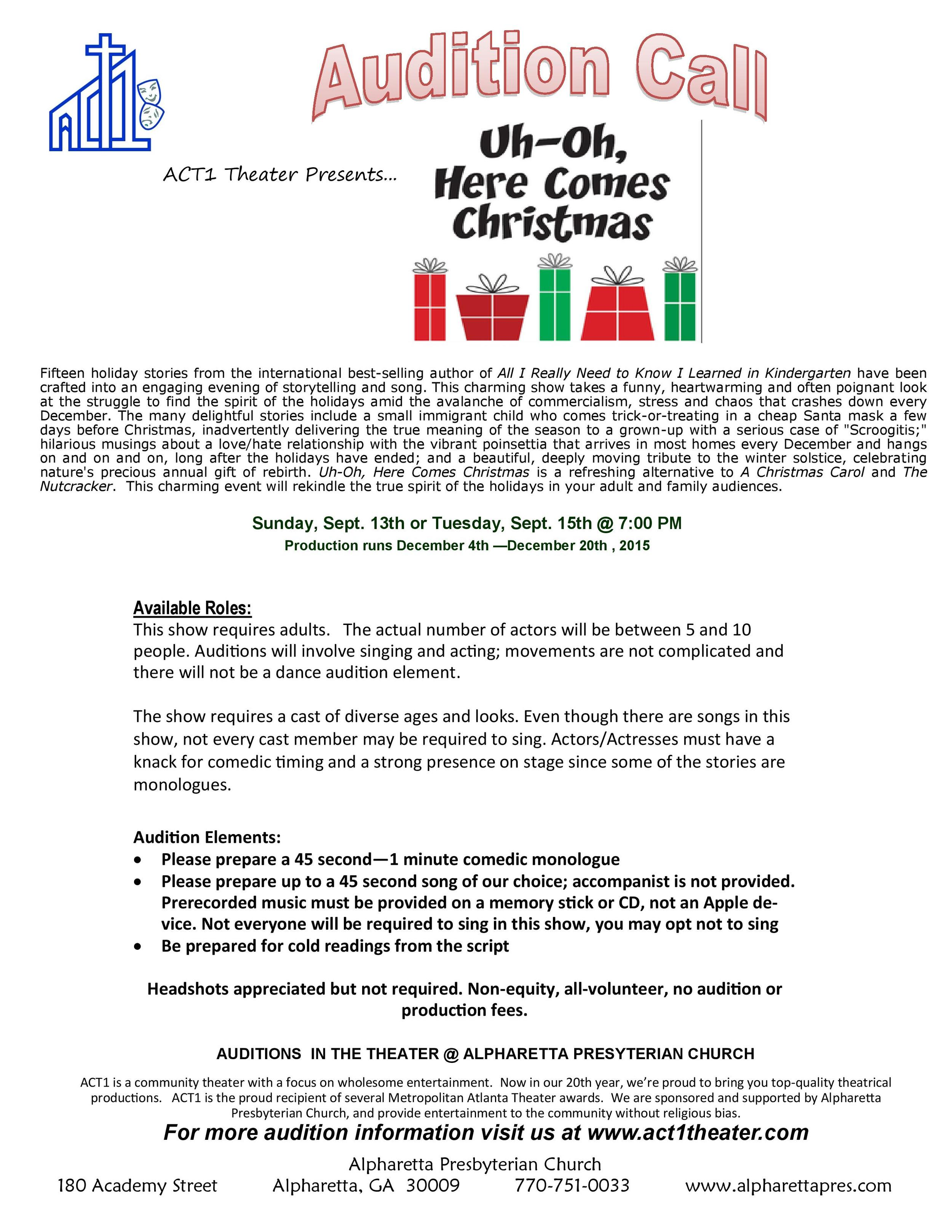 Act1_Theater_Audition_OhUhHereComesChristmas