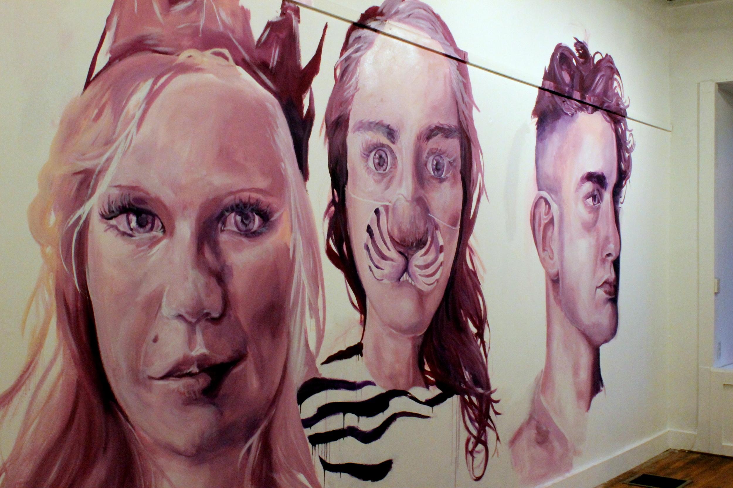 Wall of paintings at VIBRANT