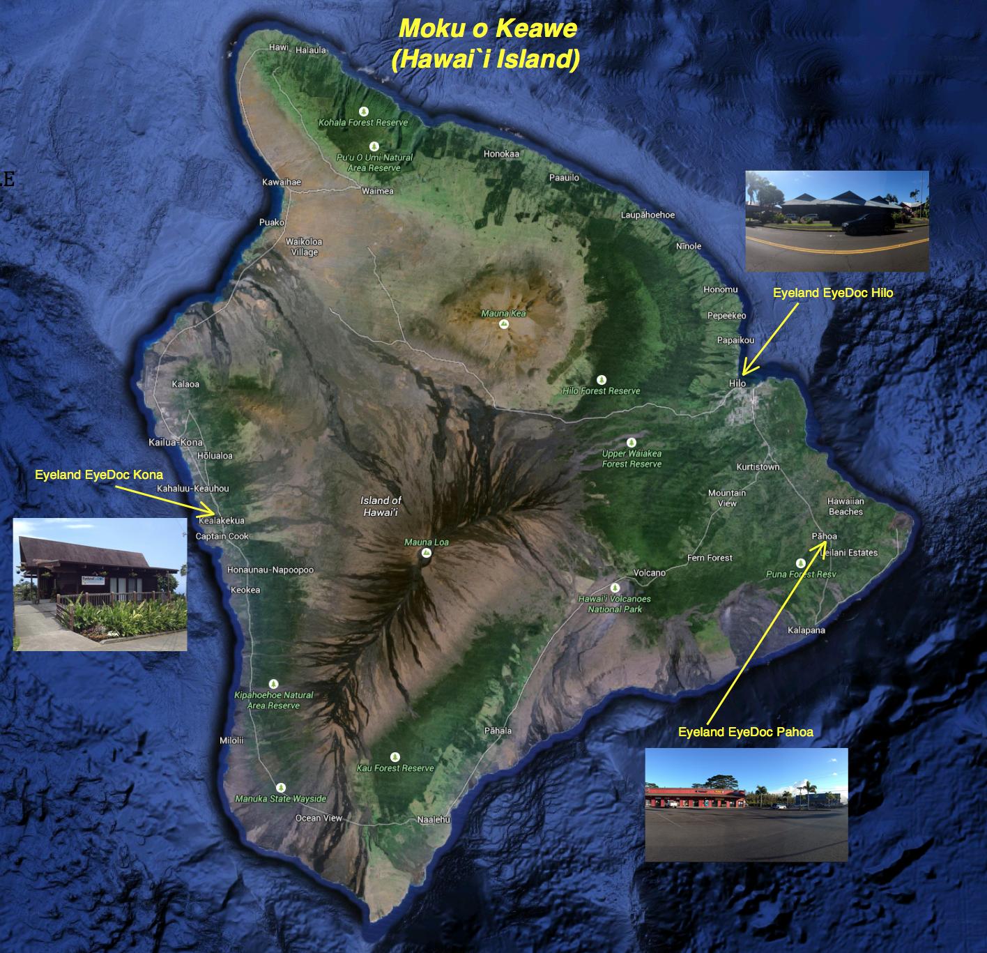 Moku o Keawe -- Hawai`i Island (Source: Google Maps)