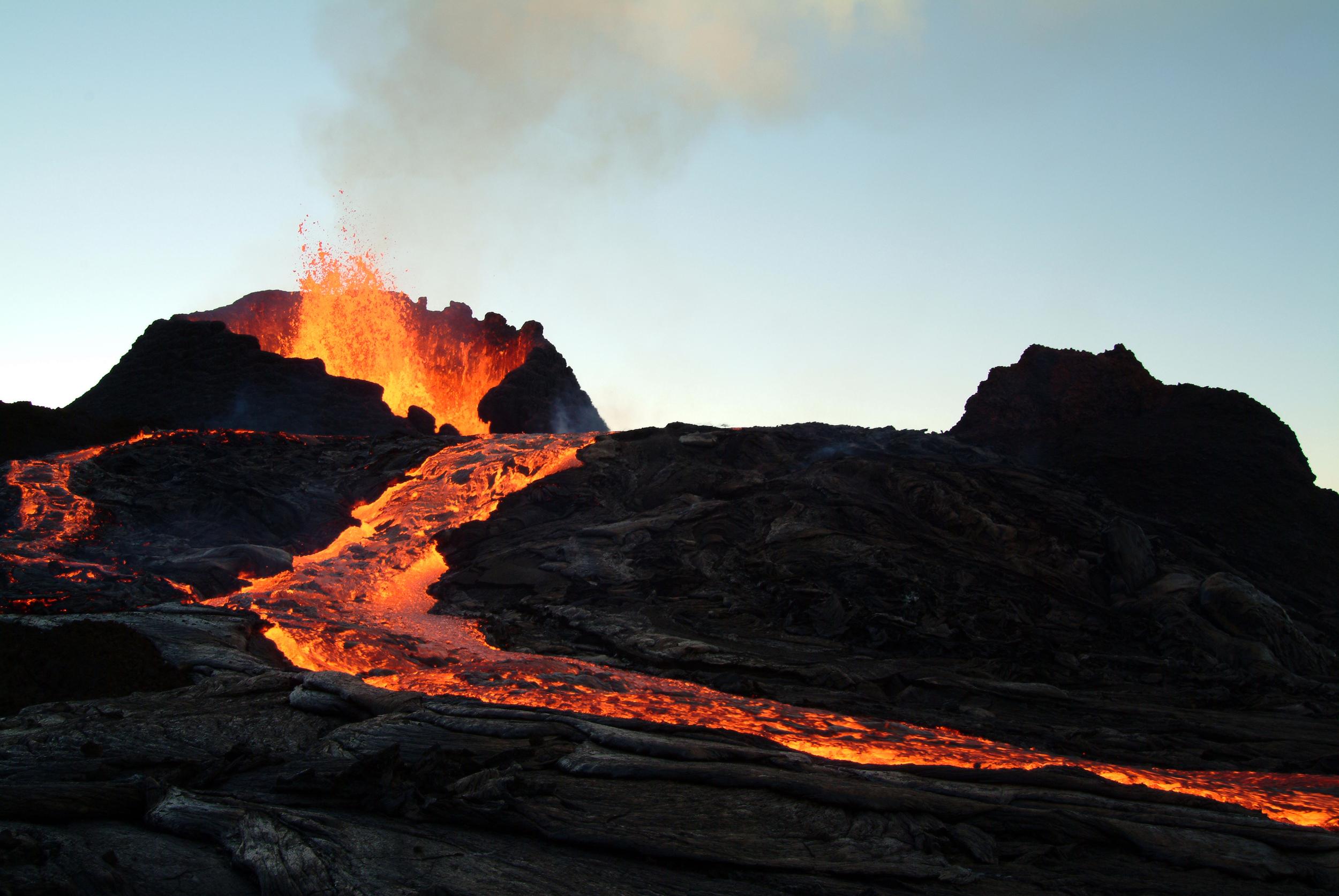 Pu`u O`o, Kilauea, Puna, Hawai`i