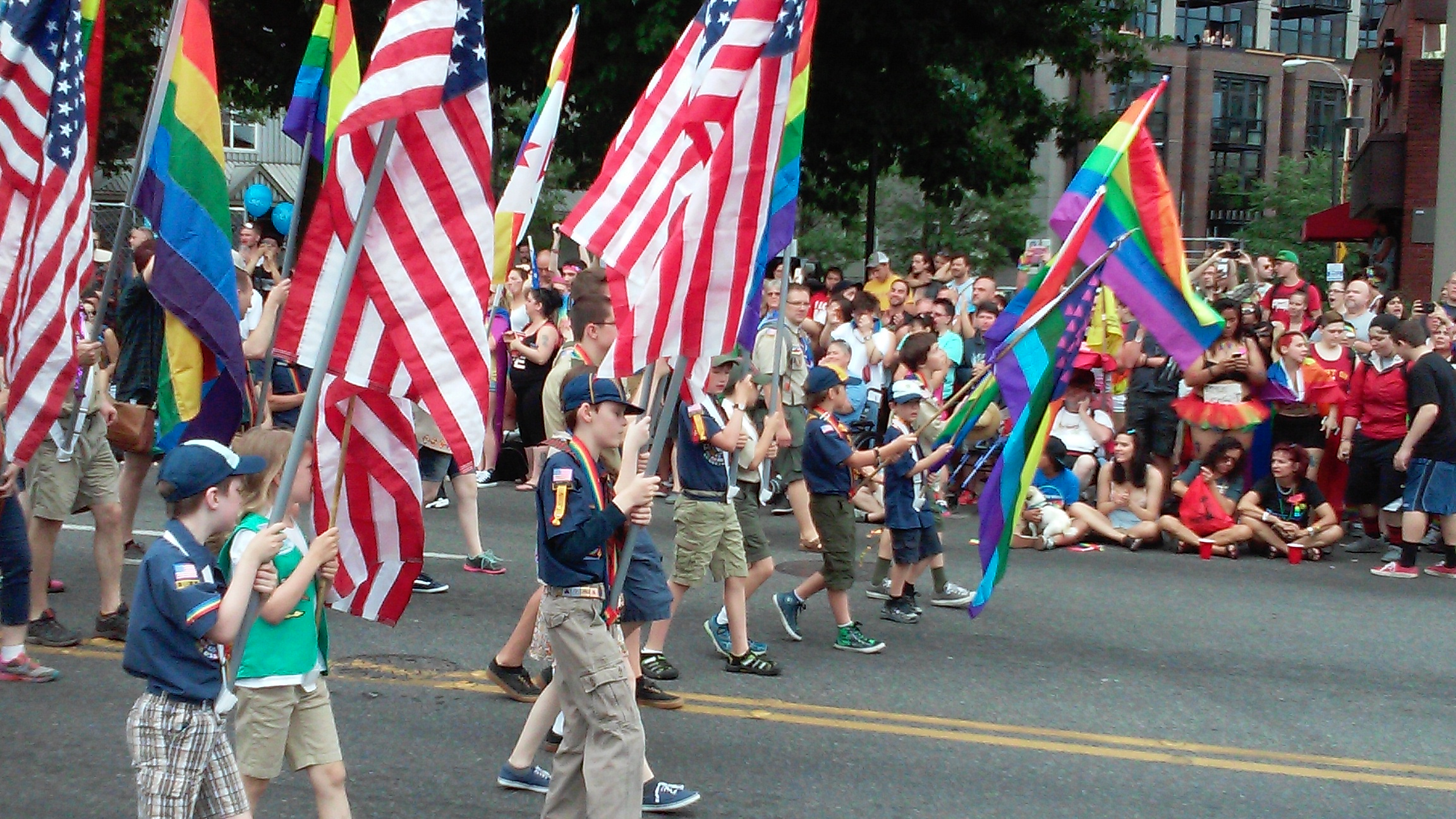 Boy Scouts at the 2015 Seattle Pride Parade (c) Martha Burwell