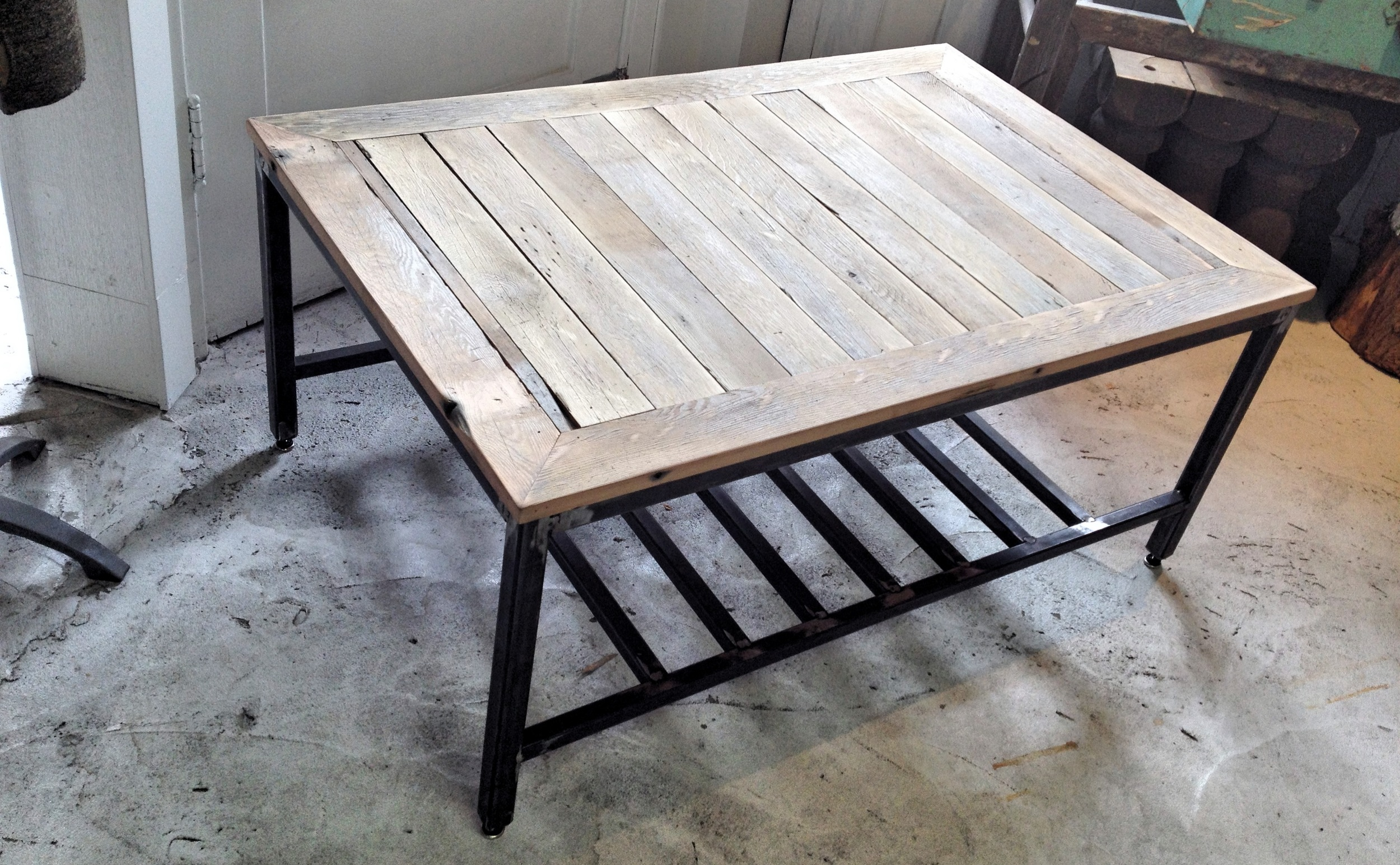 Salvaged Fir Coffee Table. Design by Matthew Johnson & Alistair Duthie