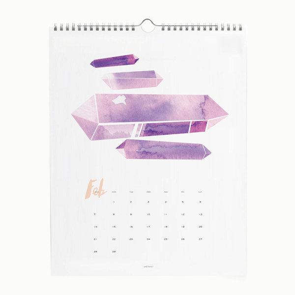 2016 Gem + Mineral Wall Calendar
