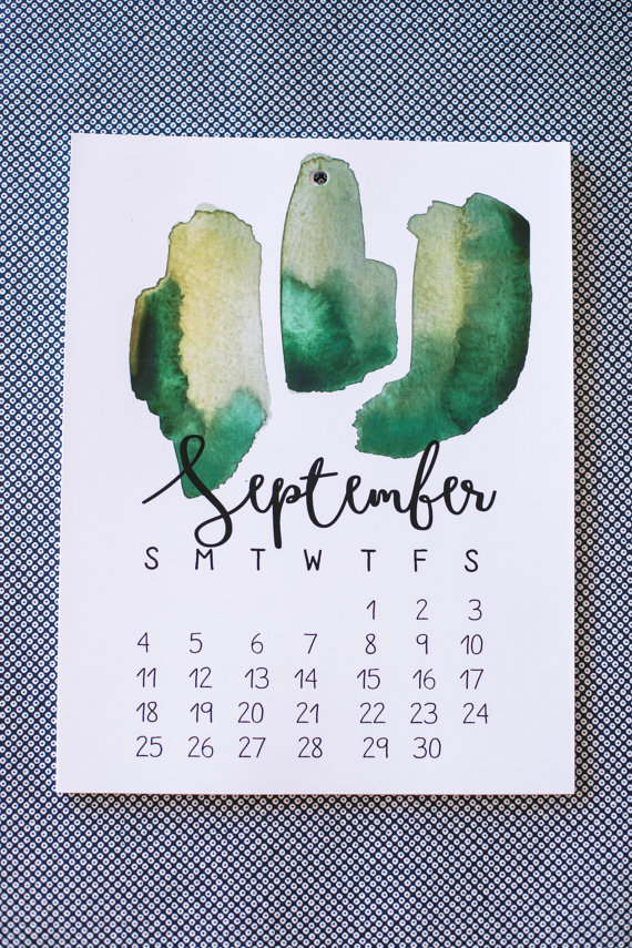 2016 Watercolor Calendar