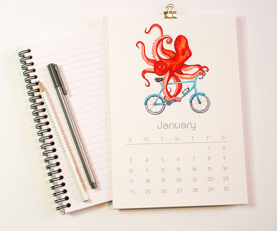 Animals on Wheels Calendar