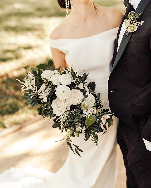 So much chicness in one photo! I love it! 😍😍😍 — photo: @kempcollective   partial planning/coordination + design: @abeyoutifulfete   hair + makeup: @stylemebar   bouquet: @floralandbloom   dress: @annebarge   tux: @ted_baker . — #brideandgroom #fbf #bouquet #florals #justmarried #stylemepretty #shesaidyes #newlyweds #imengaged #dcwedding #washingtonianwesdings #dcweddingplanner #floraldesign #weddingdress #greenery #weddingday #ohhappyday #weddingportraits #weddinginspiration #thatsdarling #abeyoutifulfete #communityovercompetition #thehappynow #photooftheday #abfexperience #bestofday #fashion #bridetobe #creativewedding #instagood