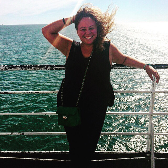 Jenna taking a ferry across the English Channel to get from England to France (photo by @jennalogic)