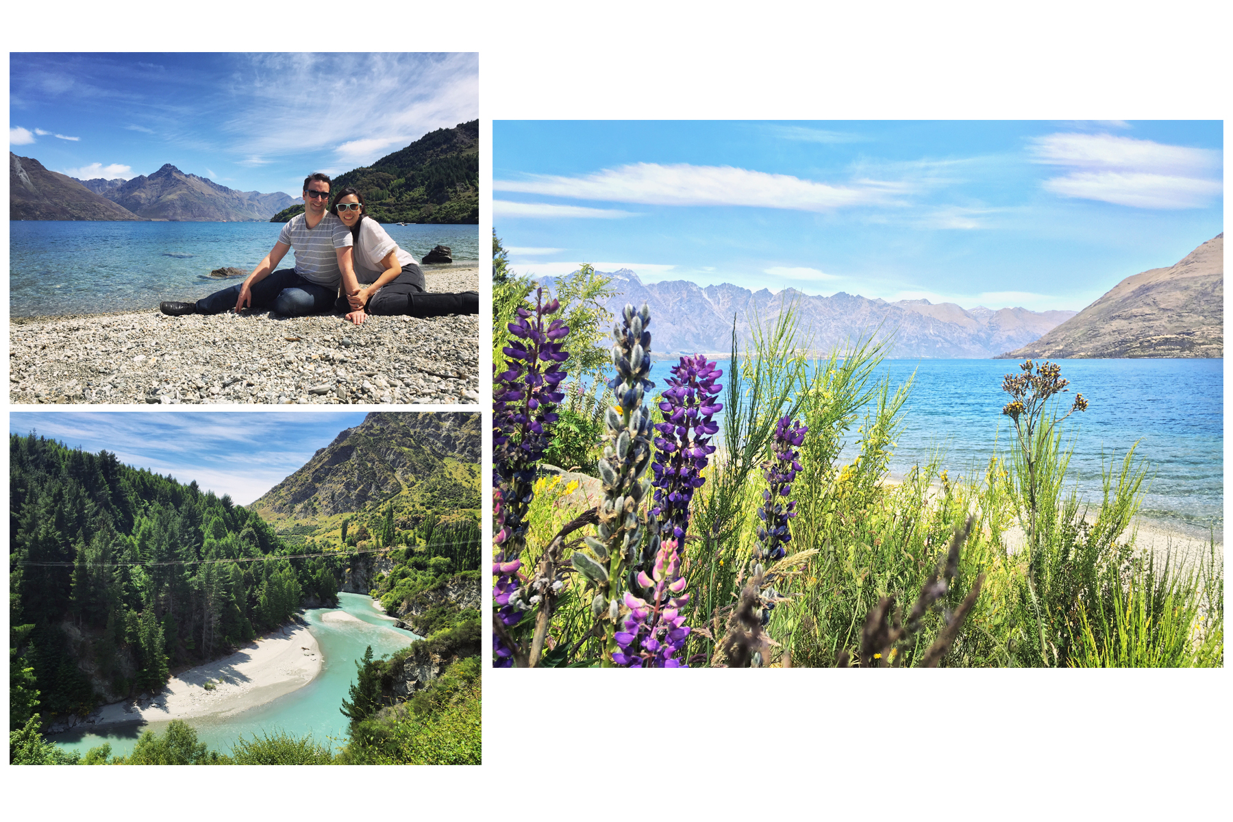 Beaches and rivers of Queenstown