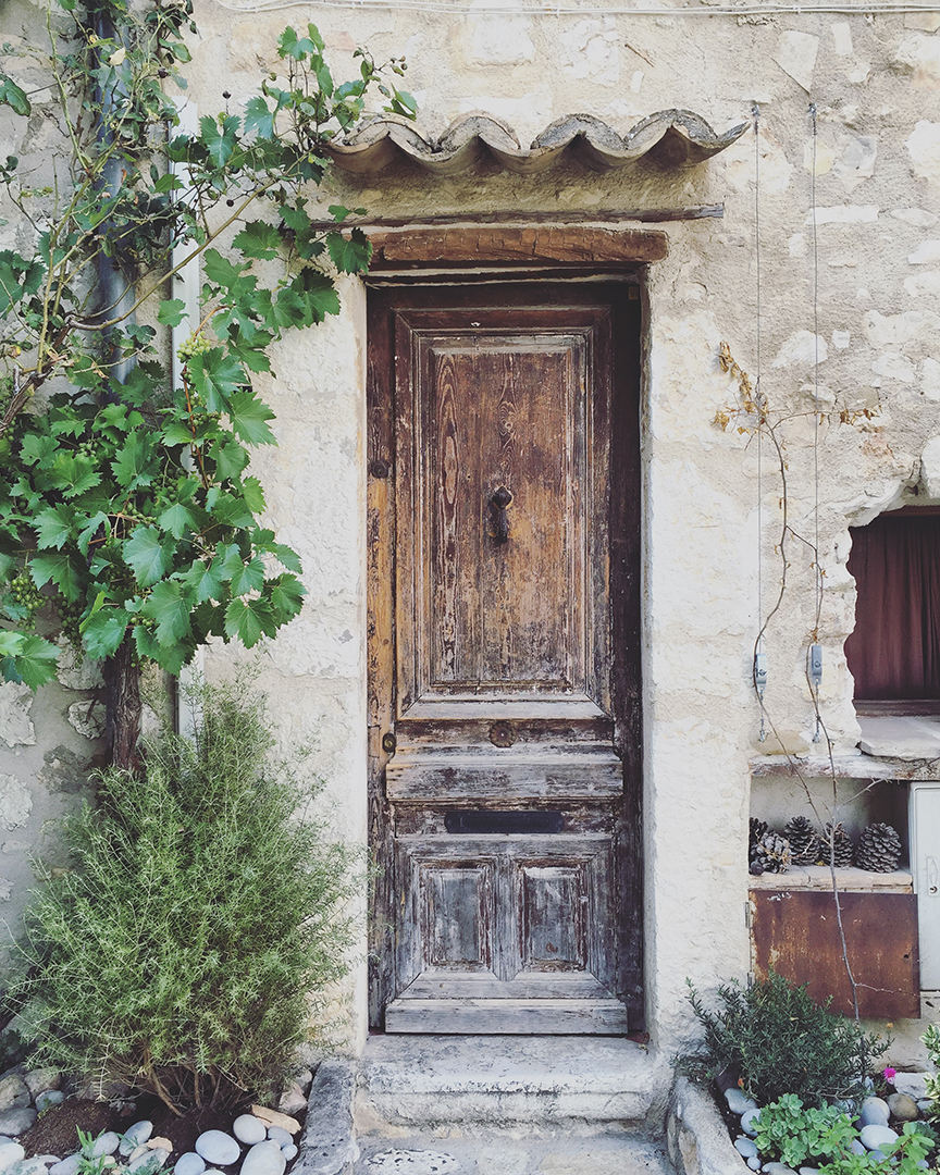 Beautiful doors and architecture abound in the medieval village of Saint Paul de Vence