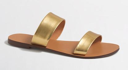 JCrew Factory Mirror Metallic Boardwalk Sandal