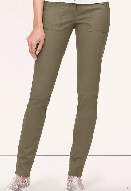 LOFT Skinny Twill Utility Pants