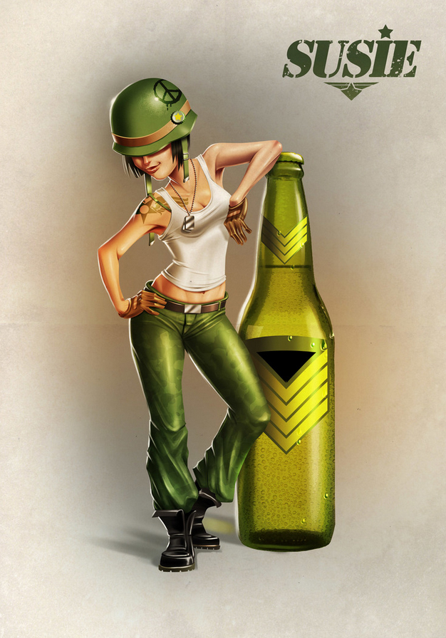 Art Image Illustration Poster Character Design Beer Woman