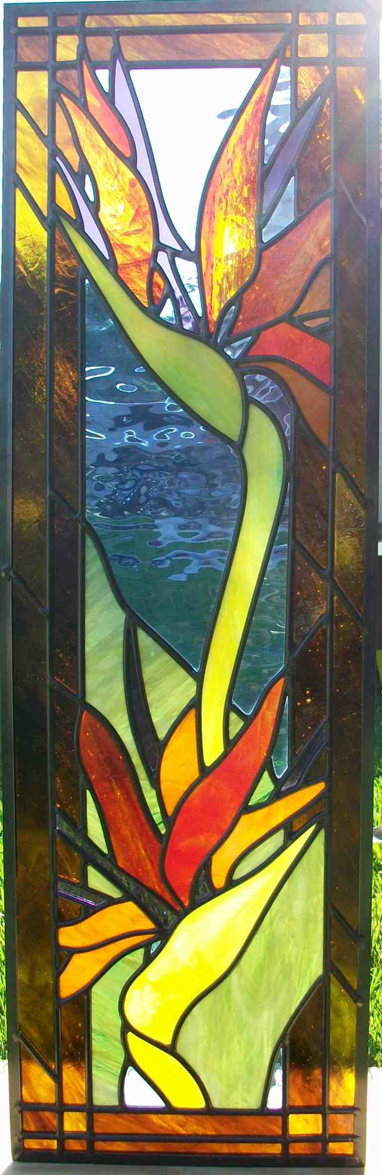 Bird of Paradise Stained Glass Window