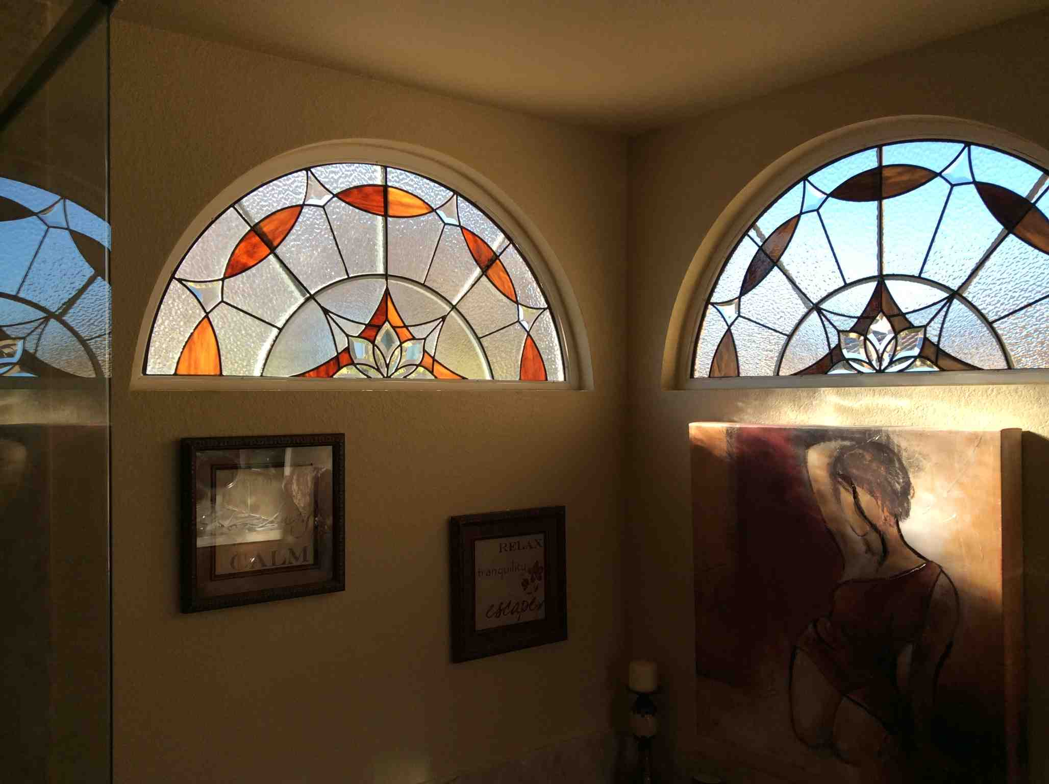 Front Entry Stained Glass Windows