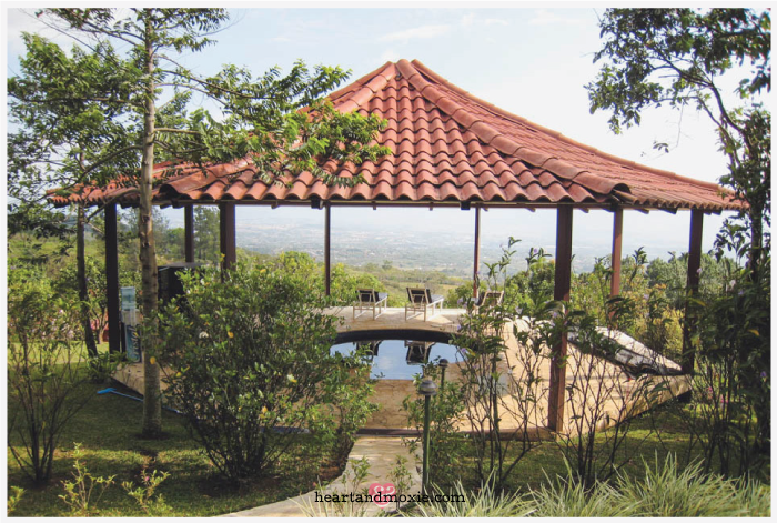On the grounds of Pure Vida Yoga Retreat in Costa Rica