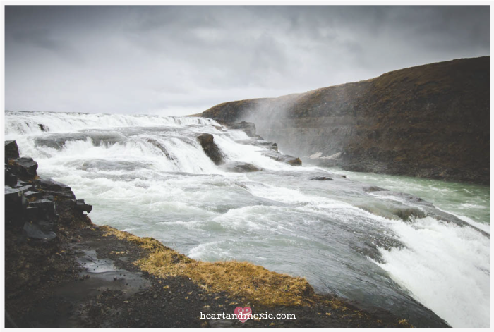 This is just  part  of Gullfoss Falls!