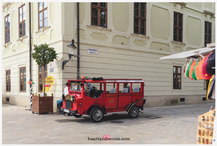 The tiny tour bus that zips you around Old Town...