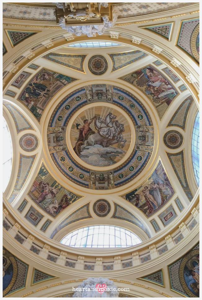 The ceiling inside the dome...