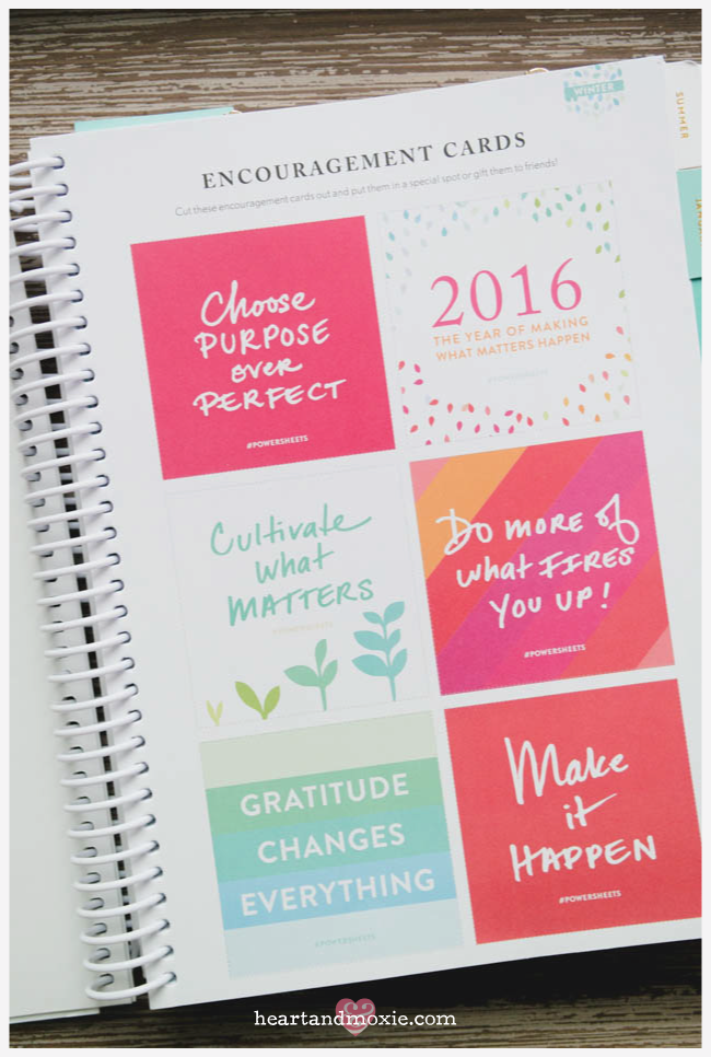 Encouragement cards that you can remove and use elsewhere!