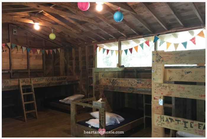The inside of our cabin before the campers arrived...decorated and ready for bonding!